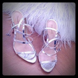 Schultz silver stiletto heels size 8 new